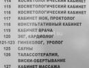 Список мед. кабинетов