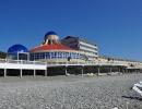 Вид на пансионат с пляжа